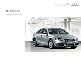 2010 audi a4 s4 u2014 owner u0027s manual u2013 354 pages u2013 pdf