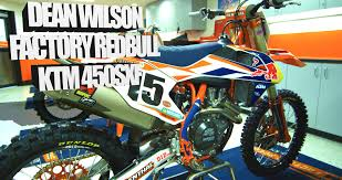 motocross action magazine subscription inside dean wilson u0027s factory red bull ktm 450sxf motocross