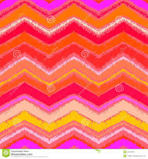 hand drawn zigzag pattern in tropical coral red royalty free