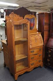 antique oak bookcase with glass doors 110 best victorian side by side secretary desks images on