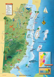 Caribbean Sea On Map by Belize Map Free Maps Of Belize And Central America Tourist Map