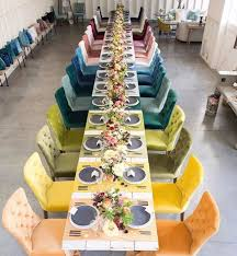 Rainbow Wedding Centerpieces by Best 25 Party Chair Rentals Ideas On Pinterest Chair And Table