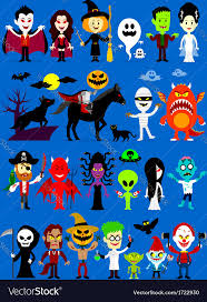 monsters mash halloween characters royalty free vector image