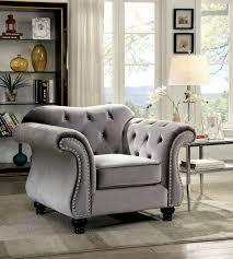 Grey Sofa And Loveseat Set Jolanda Collection Cm6159gy Furniture Of America Sofa U0026 Loveseat Set