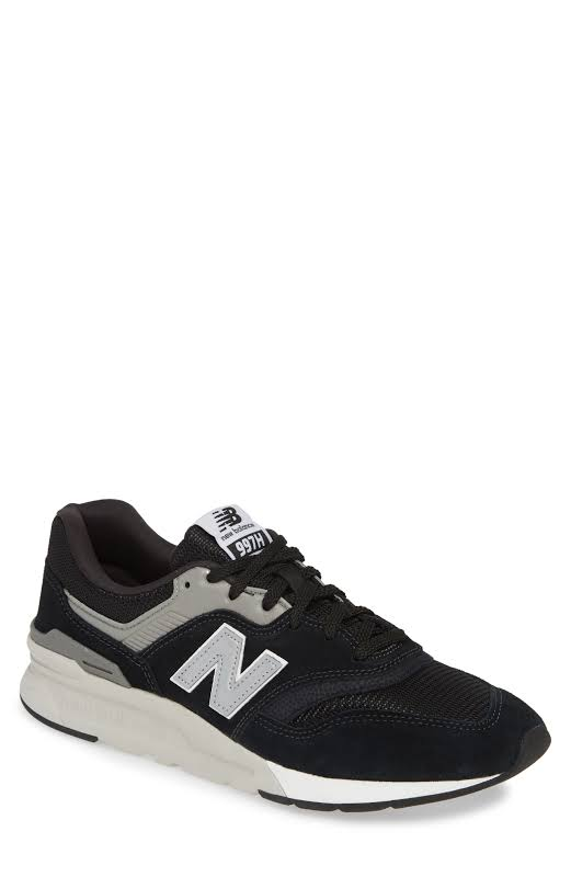 New Balance 997H CM997HCC Black Suede Low Top Lace Up Sneakers Shoes