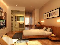 bedroom large decorating ideas brown terra cotta tile expansive