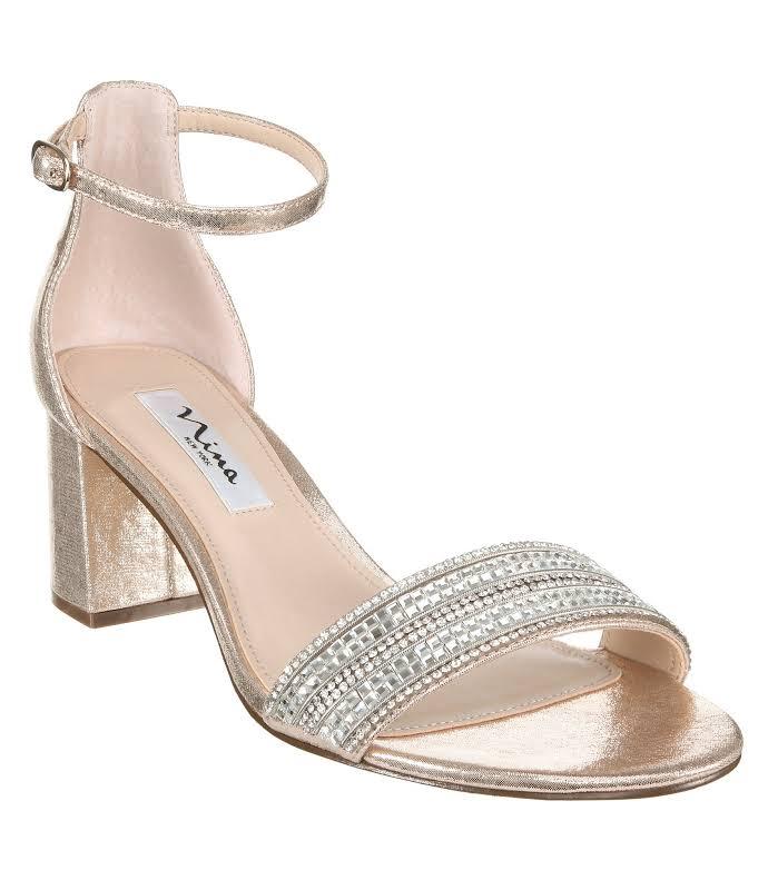 Nina Elenora Heels Gold- Womens