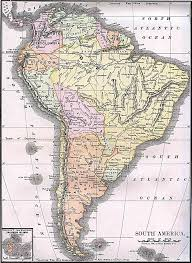 South America River Map by