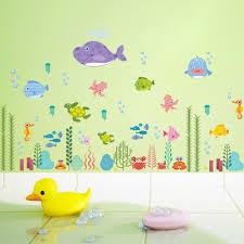 online get cheap wall octopus aliexpress com alibaba group cartoon underwater fish aquatic octopus wall sticker kids room kindergarten bedroom home decor 3d vinyl