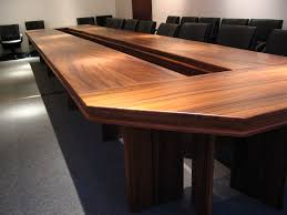 modern conference room table classic brown wooden meeting room table and black leather swivel