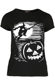 cat halloween womens scary cat halloween witch pumpkin tee t shirt ladies baggy