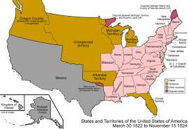 Untied States Map United States Map On March 30 1822
