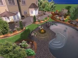 Home Landscape Design Tool by Free Backyard Design Home Interior Decor Ideas