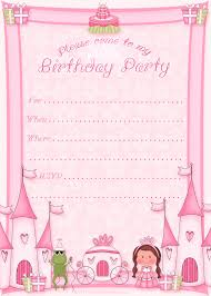Birthday Invitation Cards For Kids Free Printable Princess Birthday Invitation Template U0026 Cupcake