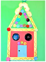 popsicle stick gingerbread house ornaments u2013 the pinterested parent
