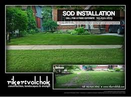 sodding and sod repairs by riker volchok construction landscapes