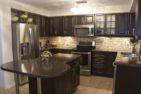 good looking painted kitchen cabinets with black appliances home