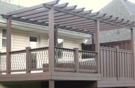 Deck Pergola Ideas by Pergolas Over Decks Pictures Pixelmari Com