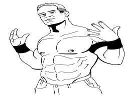 smackdown john cena coloring pages wrestling decisive contender