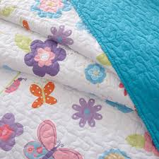 Girls Bedding Full by Blue Pink Butterfly U0026 Ladybug Spring Floral Girls Bedding Twin Or