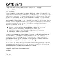 Leading Professional Social Worker Cover Letter Example Cover       resume cover page example