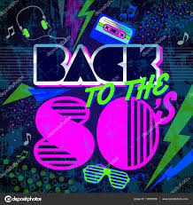 back to the 80 u0027s retro style 80s disco design neon 80s party
