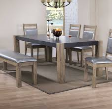 Concrete Dining Room Table Coaster Ludolf Rectangular Dining Table With Leaf Dark Concrete