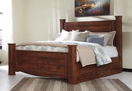 buy brittberg king poster bed with under bed storage by signature