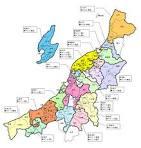 新潟県:<b>新潟県</b>:<b>県内</b>の市町村合併地図