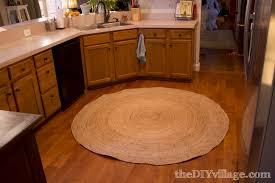 Rug For Kitchen Kitchen Accessories Beige Round Shape Kitchen Floor Light