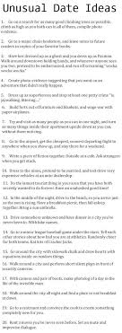 Unusual Date Ideas   Practical Enrichment Some of these are really funny