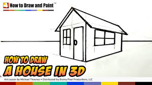 how to draw a house in 3d for kids art for kids easy things to