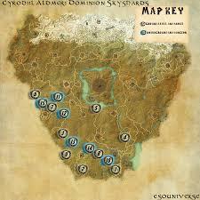 Coldharbour Ce Treasure Map Elder Scrolls Online Cyrodiil Aldmeri Skyshard Guides Eso Universe