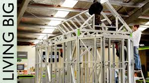 A Frame House Cost Steel Framing With Framecad Erecting The Frame Youtube