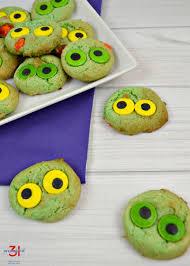 Halloween Cake Mix Cookies by Monster Eyeball Cookies Organized 31