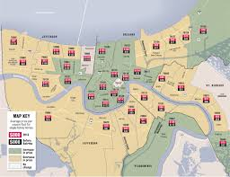 Map New Orleans French Quarter by New Orleans Zip Codes Map Zip Code Map