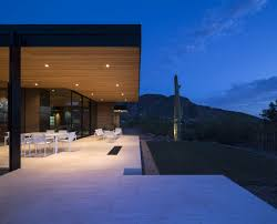 beautiful homes surrounded by desert and mountains rammed earth modern project porch