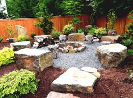 Small Rock Garden Pictures by Incredible Yard With Small Light Colored Rock Garden Design Ideas