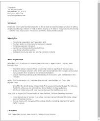 Professional Direct Sales Representative Templates to Showcase     My Perfect Resume Resume Templates  Direct Sales Representative