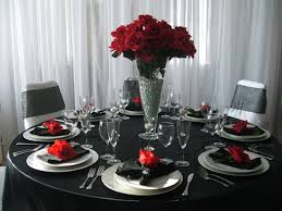 Silver Centerpieces For Table Silver Wedding Anniversary Decorating Ideas Red Black And White