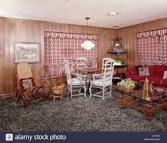 Wall Carpet by 1960s 1970s Living Room Interior Shag Wall To Wall Carpet Bentwood