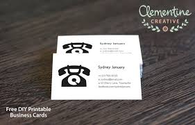Calling Business Cards Free Diy Printable Business Card Template