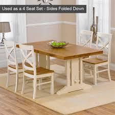 mark harris oak u0026 cream extending 8 seater dining set internet