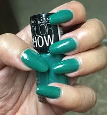 maybelline color show nail polish review tenacious teal love