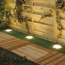 Solar Fence Lighting by Solar Power Round Recessed Deck Dock Pathway Garden Led Light