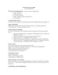 Sample Teaching Resumes  resume template teaching resume format