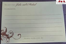 photo recipe card bridal shower invitation image