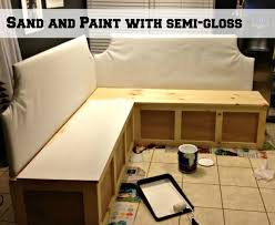 Plans To Build A Storage Bench by Remodelaholic Build A Custom Corner Banquette Bench