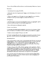 Reference Letter For Scholarship Cover Letter Templates