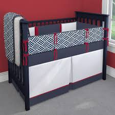 red white and navy blue nursery idea customizable crib bedding